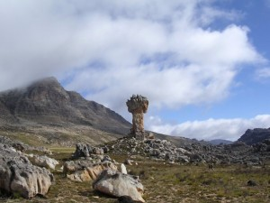 Maltese Cross with Sneeuberg in the Background. Cederberg, South Africa.