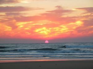 Sunrise at Cape Vidal, Kwa-Zulu Natal.